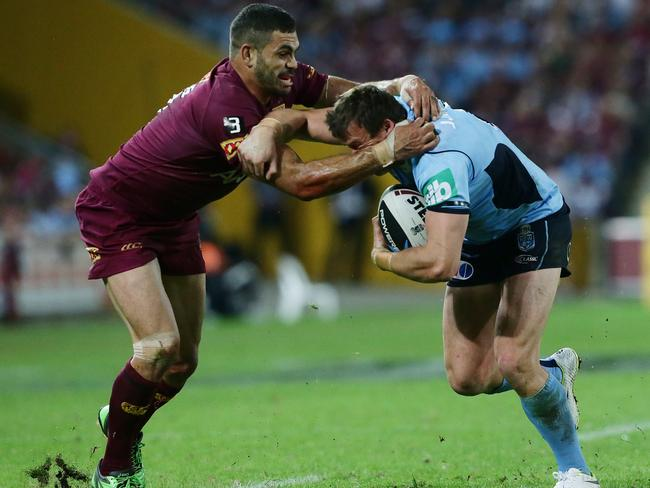 There will be none of this between Greg Inglis and Josh Morris in game two.
