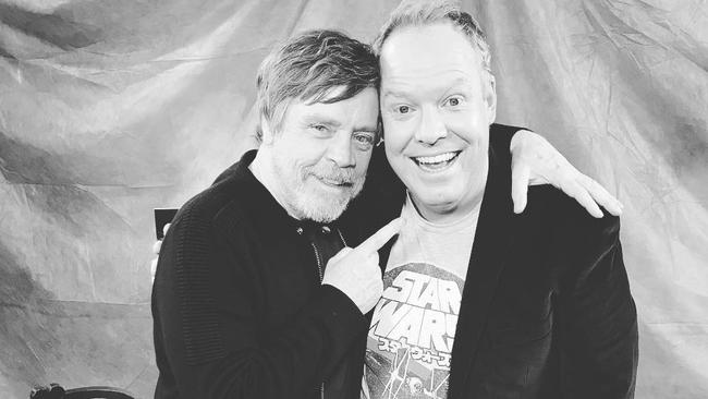 Peter Helliar with Mark Hamill from Star Wars.