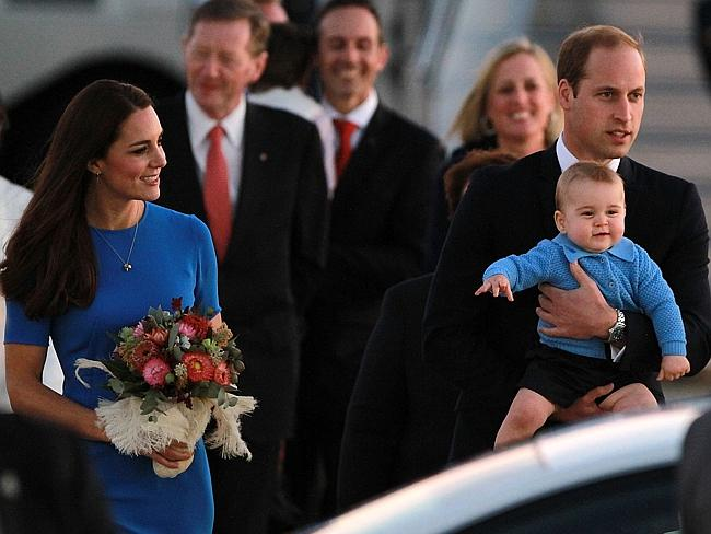 Bonny thing ... Kate and William kept George's appearances to a minimum. Picture: Cole Be