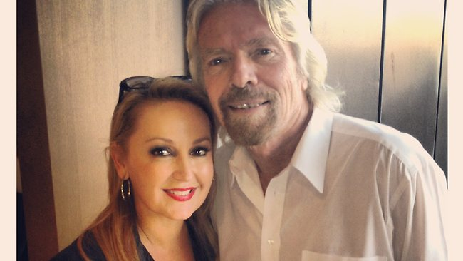 Melissa Hoyer and Richard Branson. Picture: Supplied