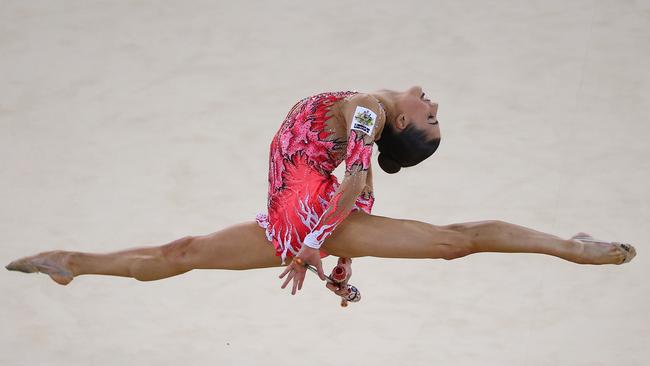 Danielle Prince of Australia competes in the club section rotation of the Individual All-Around Final.