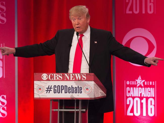 Volley of insults ... Republican presidential candidate Donald Trump let rip in South Carolina. Picture: AFP/Jim Watson