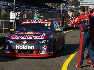 Supplied Editorial Fwd: Supercars driver Jaime Whincup wins race 2 of the Red Rooster Sydney SuperSprint. Images 1 o