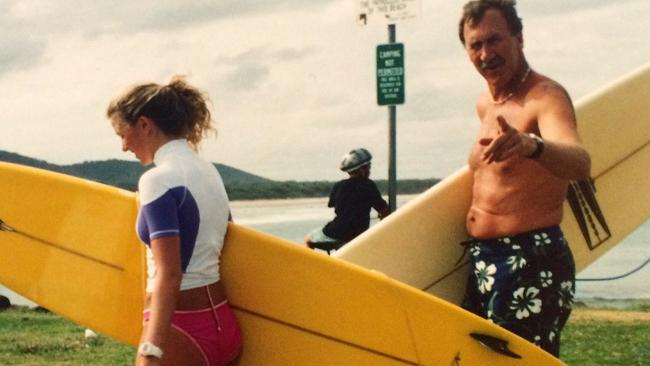 Charlotte Connell was taught to surf by her late father Geoffrey.
