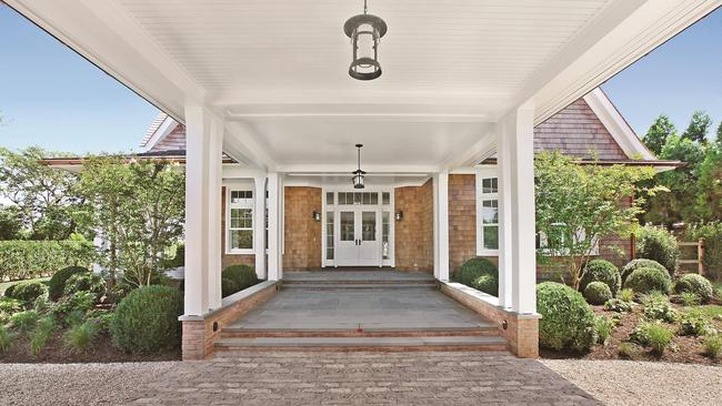 Luxury ... The grand entrance to the Hampton's homestead. Picture. Knight Frank.