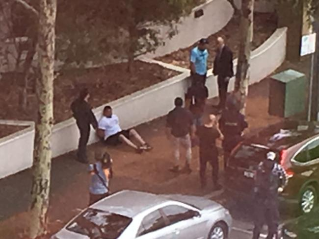 Nine people were arrested during the raids. Picture: Channel 9