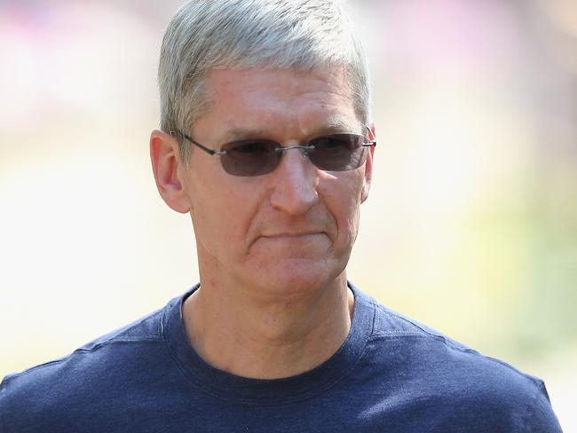 Tim Cook replaced Steve Jobs as Apple CEO three years ago. Pic: Scott Olson/Getty Images/AFP.