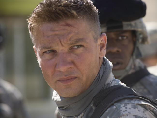 Jeremy Renner starred in The Hurt Locker.