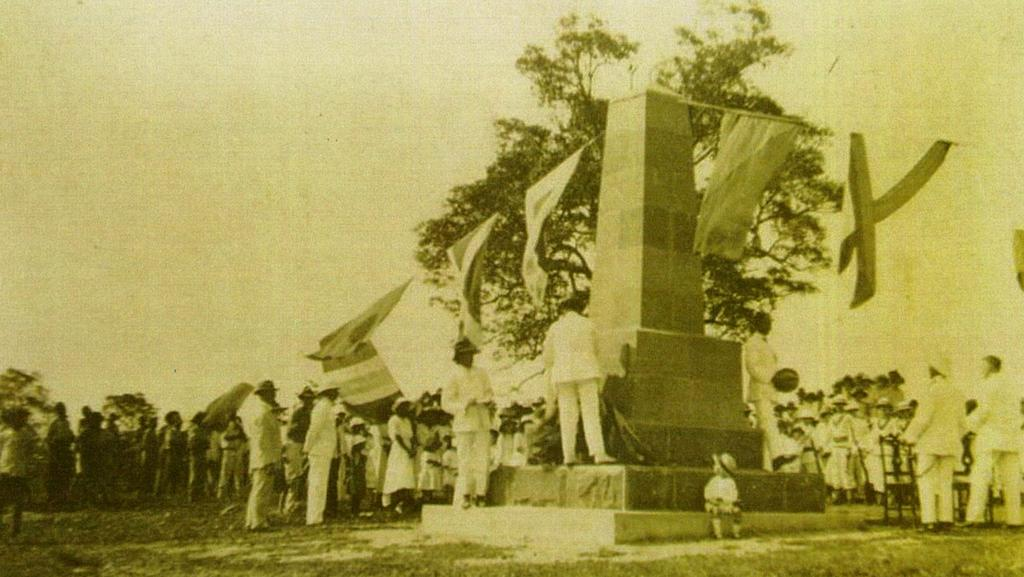 The Ross Smith Memorial when it was erected. PICTURE: Supplied
