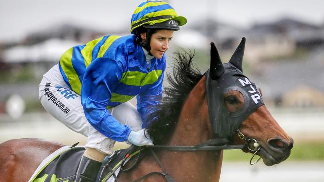 Michelle Payne has called out Racing NSW on Twitter over its dual jockey-trainer licence policy. Picture: Colleen Petch