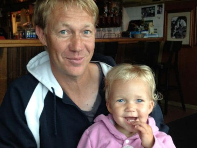 Welcome addition...Scott Andersen welcomed his daughter Leila into his life. Picture: Supplied