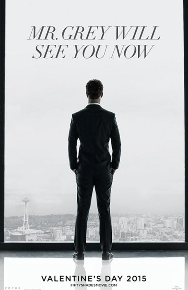 The first teaser poster only showed Dornan from the back.