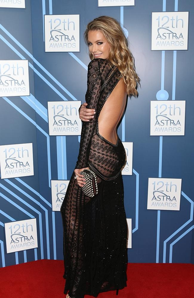 Jennifer Hawkins at the 2014 ASTRA Awards at Carriageworks.