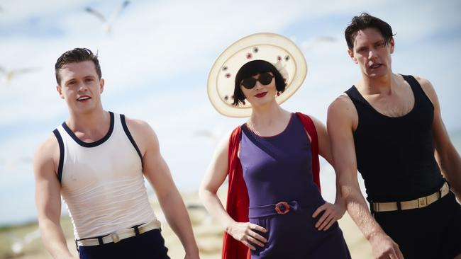 Constable Hugh Collins, Miss Phryne Fisher and Detective Inspector Jack Robinson. Picture: Supplied