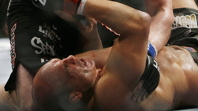 Randy Couture might prefer to forgot this moment from his 2008 fight against Brock Lesnar, when he was 45.