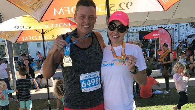 Loving life alcohol-free Gold Coast Marathon 2017. Picture: Supplied