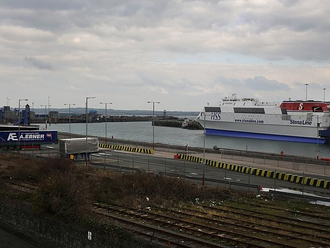 No longer busy ... the port of Holyhead. Picture: Ella Pellegrini