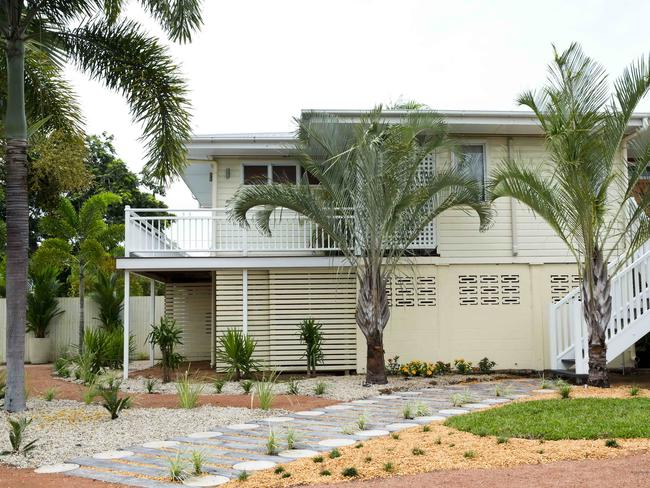 A new front yard ... Maddi and Lloyd's Queensland home.
