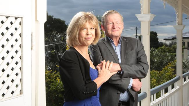 Dr Chris Davis at home in his former electorate of Stafford with wife Dr Kate Sinclair, a paediatric neurologist at Brisbane's Royal Children's Hospital. Picture: Russell Shakespeare