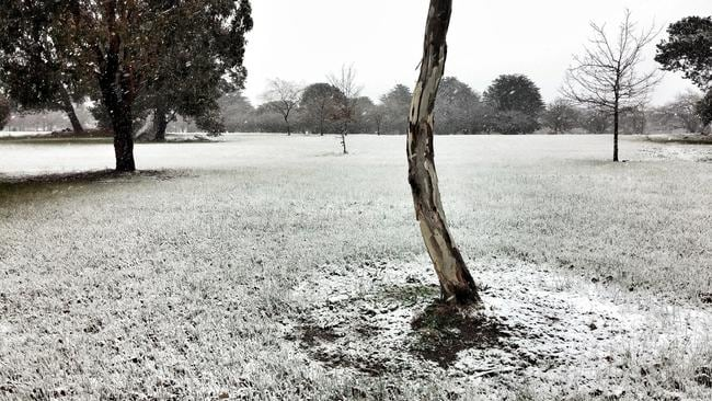 This stunning photo was submitted to the Herald Sun by Ivan Carter. It's of Victoria Park, Ballarat, at noon today.