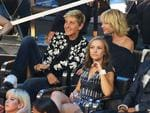 Ellen Degeneres and Portia De Rossi are seen in the audience during the 2017 MTV Video Music Awards at The Forum on August 27, 2017 in Inglewood, California. Picture: AFP