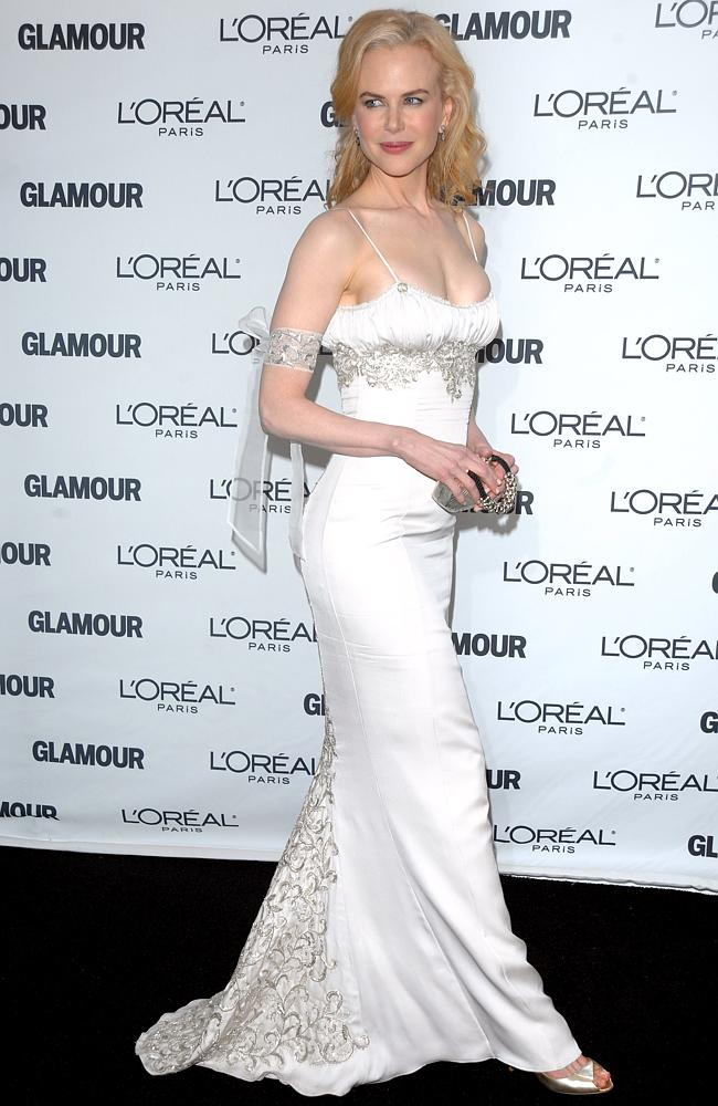 Nicole Kidman glams it up in a L'Wren Scott gown at the 2008 Glamour Women of the Year Awards. Picture: AP
