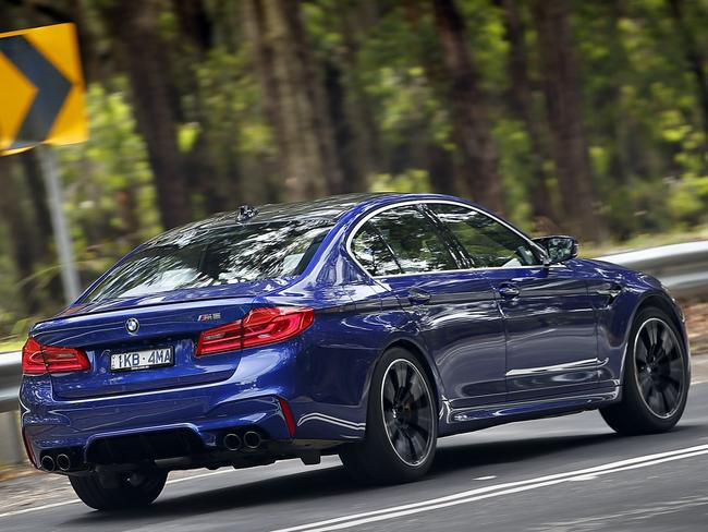 The twin-turbo V8 propels the M5 to 100km/h in just 3.4 seconds.