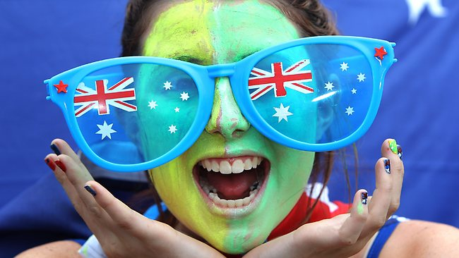 2012 Australian Open. Tennis. Day 6. Colour. Crowd. Crowds coming along to enjoy all the action. Eleisha Perrett, 17.