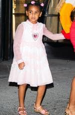 Beyoncé Knowles and Blue Ivy Carter go shopping at Bergdorf Goodman in colorful outfits in New York in 2016. Picture by: Splash News