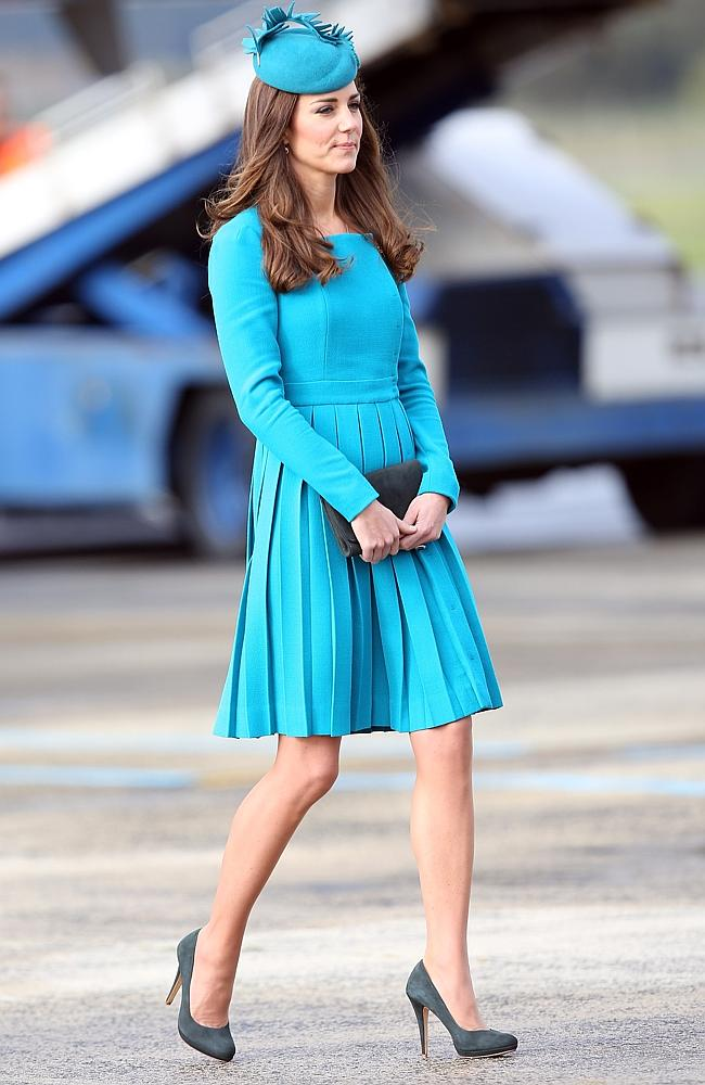 Catherine, Duchess of Cambridge, looked as radiant as ever at Dunedin International Airport today. Picture: Getty