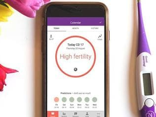 Natural Cycles, a smartphone app which algorithmically monitors female fertility, has become the first app to be officially approved for use as contraception. Picture: Natural Cycles