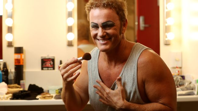 29/12/17 Craig McLachlan in his dressing room for the Behind the scenes feature of the Rocky Horror stage show at the Adelaide Festival Centre. photo Calum Robertson