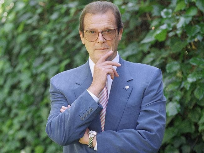 Roger Moore was known for his style. Picture: AP