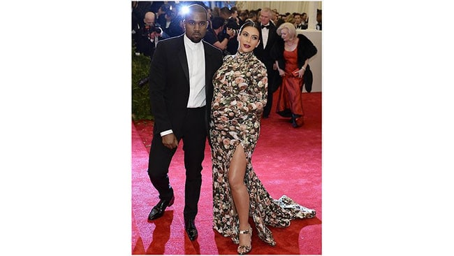 Kim Kardashian and Kanye West at the 2013 Met Gala Ball. Picture: Getty