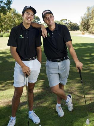 Jack Thompson and Billy Cawthorne will be among the team representing SA at the Australian Interstate Teams Matches. Picture: Jennie Groom