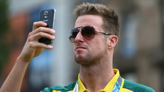 This year's Commonwealth Games gives humble Australian swimmer James Magnussen the chance to take lots of selfies. Photo by Robert Cianflone/Getty Images.