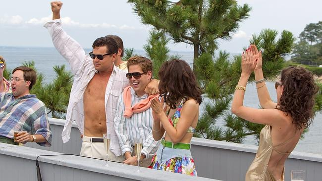 Living large ... Jordan Belfort's extravagant lifestyle was depicted in the movie 'The Wo