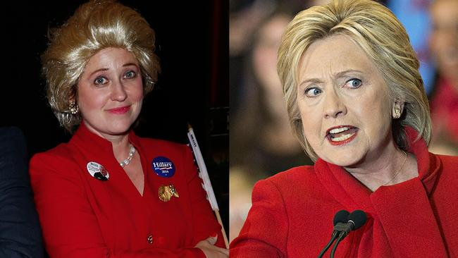 Another impersonation-fail occurred when this reveller dressed up as presidential candidate Hillary Clinton.