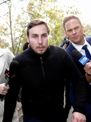 Adam Cranston leaves Sydney Police Centre in Surry Hills after being released on bail on Thursday. Picture: Dylan Robinson
