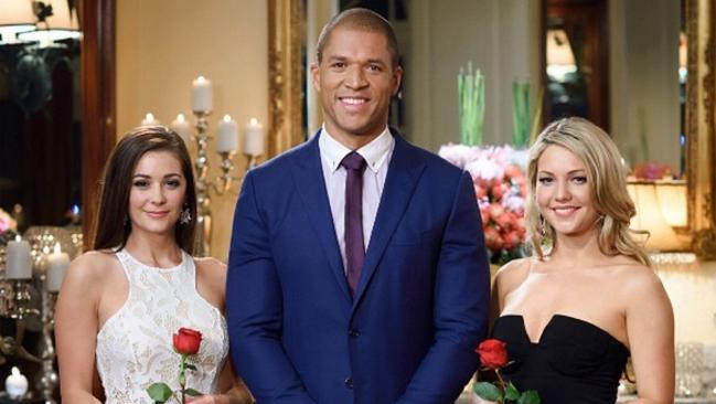 Sam Frost At Right With Fellow Bachelor Alumni Lisa Hyde And Blake Garvey