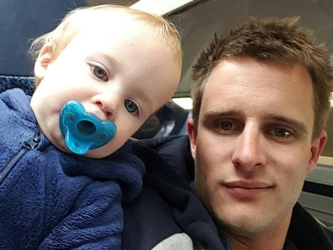 Stuart Angel was smoking 1 or 2 grams of marijuana a day before his son, Lucas, was born. Picture: Supplied.