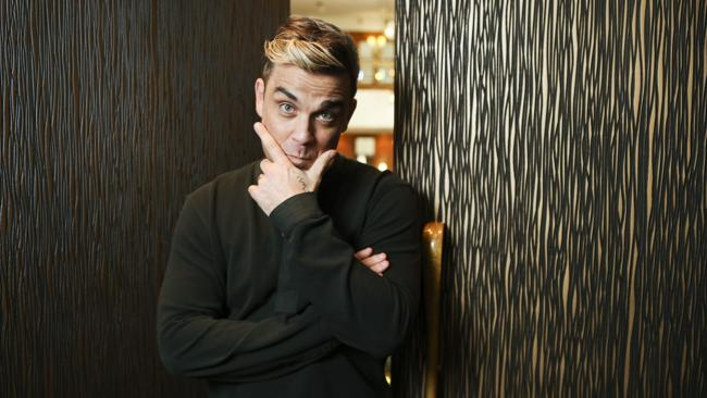 Always a winner ... Robbie Williams caused a frenzy with his appearance - and tour annoucement - on the Today Show. Picture: Justin Lloyd