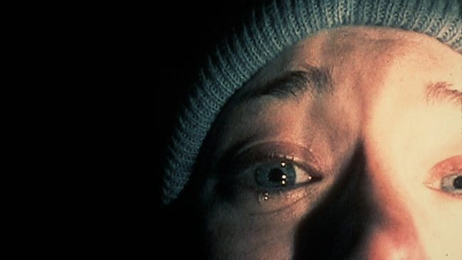 "PIRATE: 1999 : Scene from 1999 documentary film ""The Blair Witch Project""."