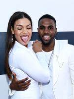 Singers Jordin Sparks (L) and Jason Derulo attend the 2014 MTV Video Music Awards. Picture: Getty