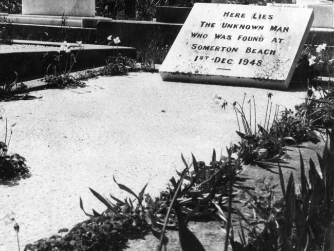 A 1973 photo of The Somerton Man's grave at West Terrace Cemetery, Adelaide.