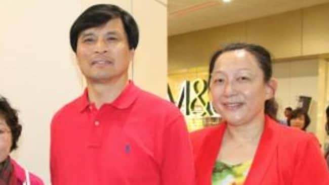 Sun Yang's parents, Sun Quanhong and Yang Ming (pictured at the London Olympics) are former volleyball players. Picture: Supplied