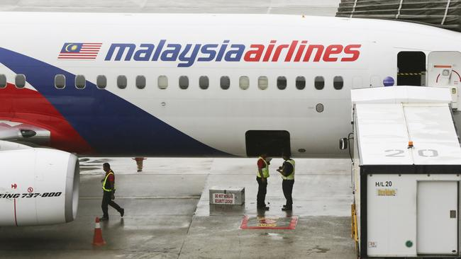 Safe ... a Malaysia Airlines aircraft on the tarmac at Kuala Lumpur International Airport. Photo: AP.