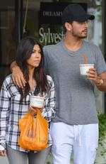 Kourtney Kardashian and Scott Disick are seen in Sag Harbor on June 12, 2014 in New York City. Picture: Getty