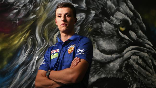 Brisbane Lions Draftee Hugh McCluggage who was pick 3. Pic Jono Searle.