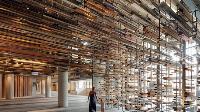 Inside the Nishi building in Canberra. Picture: Supplied Intergrain Timber Vision Awards.